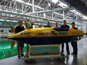 Picture of the Bath University submarine
