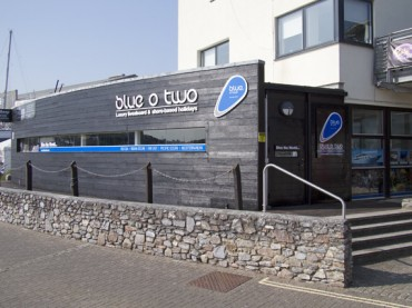 New blue o two office in Mount Batten, Plymouth