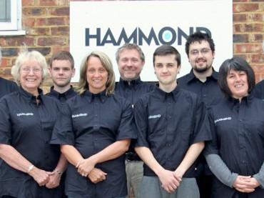 Staff at Hammond Drysuits, inc. owner Chris Hammond (centre)