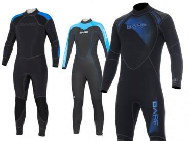 BARE Elastek, Velocity and Sport wetsuits