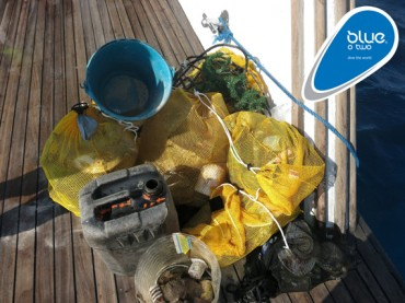Litter collected from reefs in the Red Sea