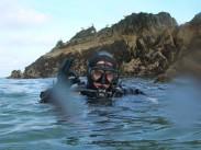 Simon ready to dive