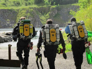 rEvo rebreather CCR demo weekend at Capernwray