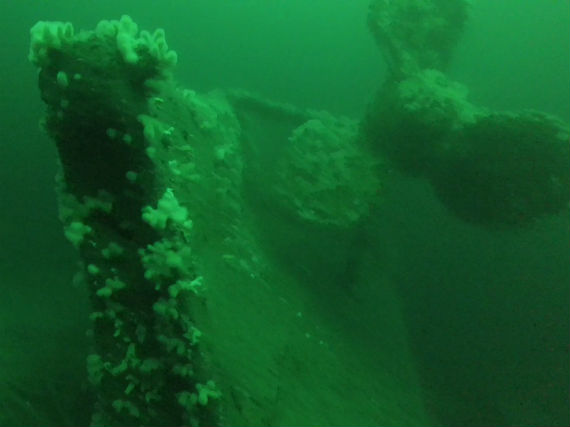 HMS Hampshire stern and portside propeller