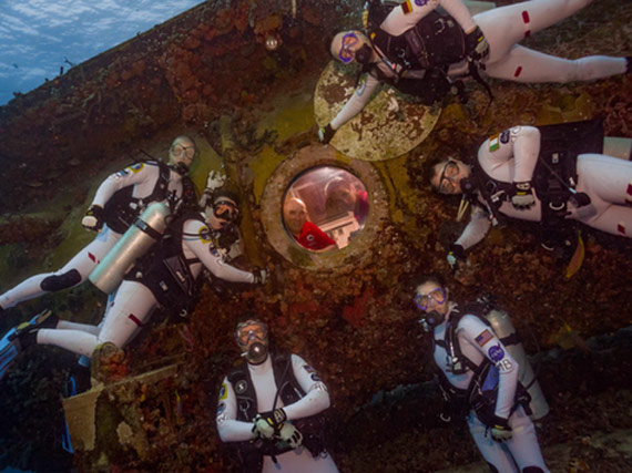 Astronaut training - image copyright Irish Underwater Council