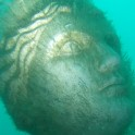Face of an underwater lady in Portland