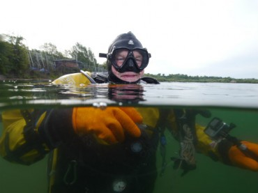 Shore diver returns to the water after COVID-19 lockdown