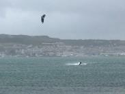 Kite surfer, Portland Harbour